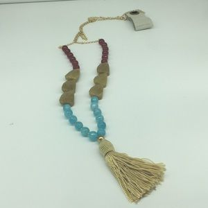 Stylish beaded tassel necklace by Anthropologie